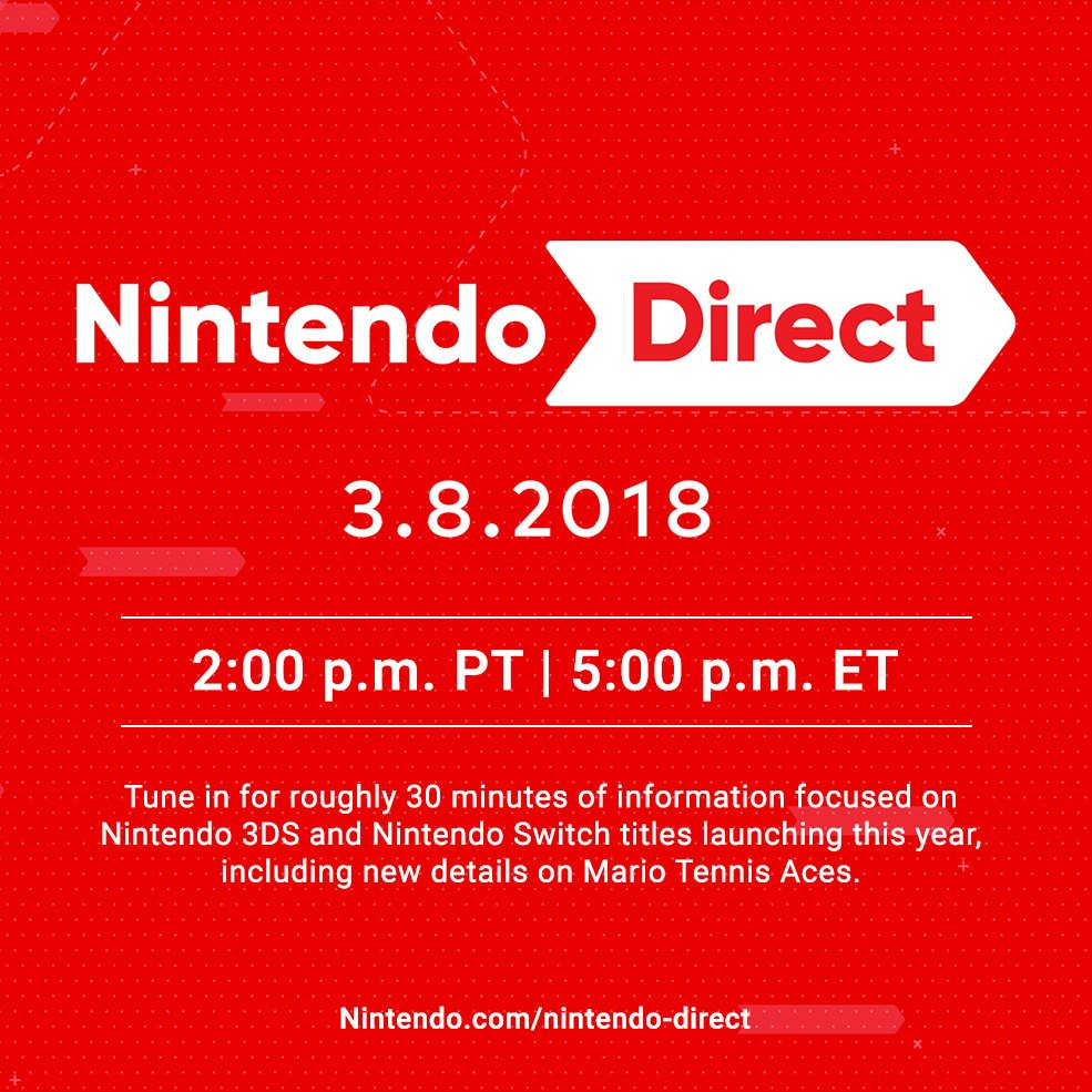 Nintendo Direct 08/03/2018