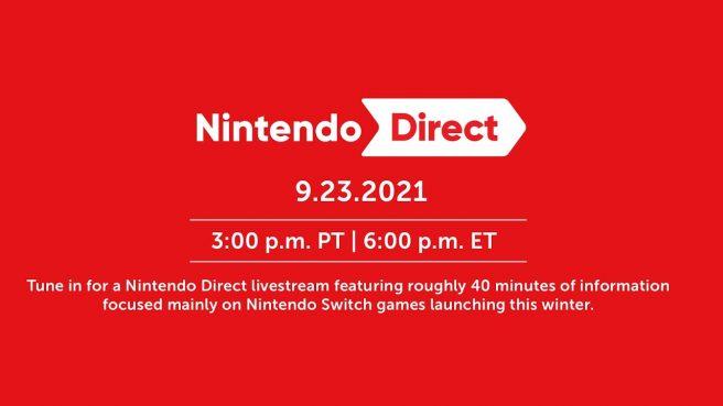 september 2021 nintendo direct live stream