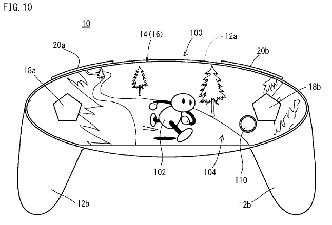 new nintendo patent controller with free form display nintendo
