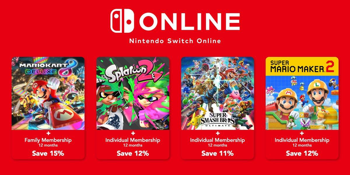 Nintendo Offering Nintendo Switch Online Software Bundles In Europe Nintendo Everything