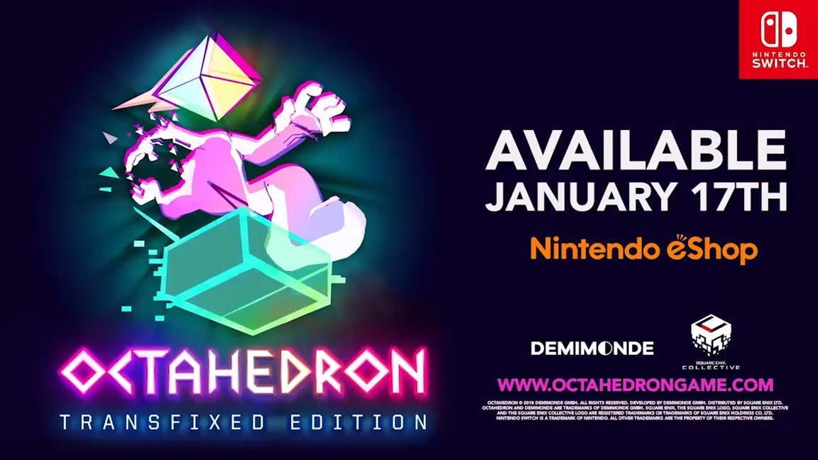Octahedron: Transfixed Edition heading to Switch next month