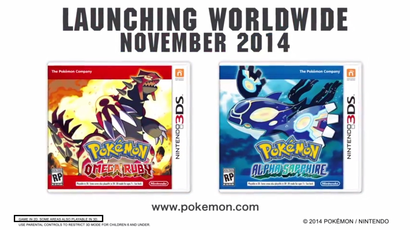 Pokemon Omega Ruby Alpha Sapphire Will Have Limited 3d Usage