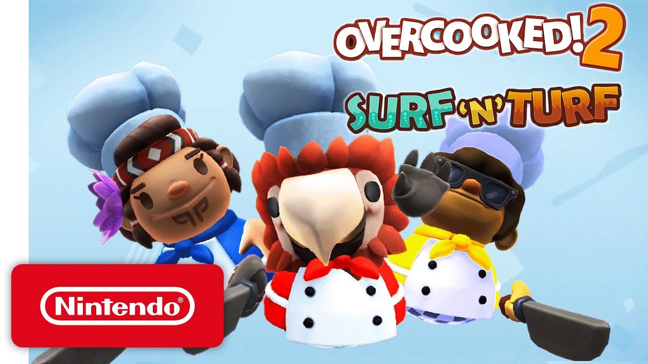 Overcooked 2 reveals Surf 'n' Turf DLC, out now - Nintendo