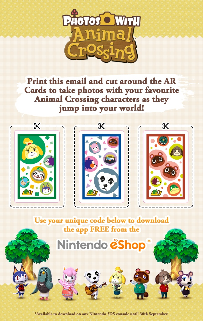Nintendo UK Sending Out Photos With Animal Crossing Codes Via Email