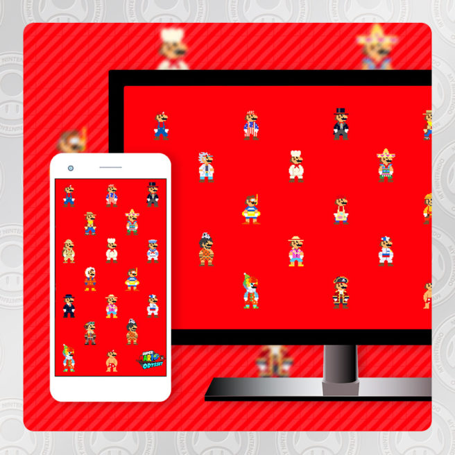 My Nintendo Adds Super Mario Odyssey Pixel Wallpaper Prima