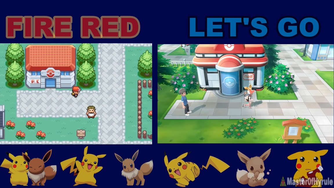 Pokemon: Let's Go, Pikachu / Eevee compared to Pokemon Fire