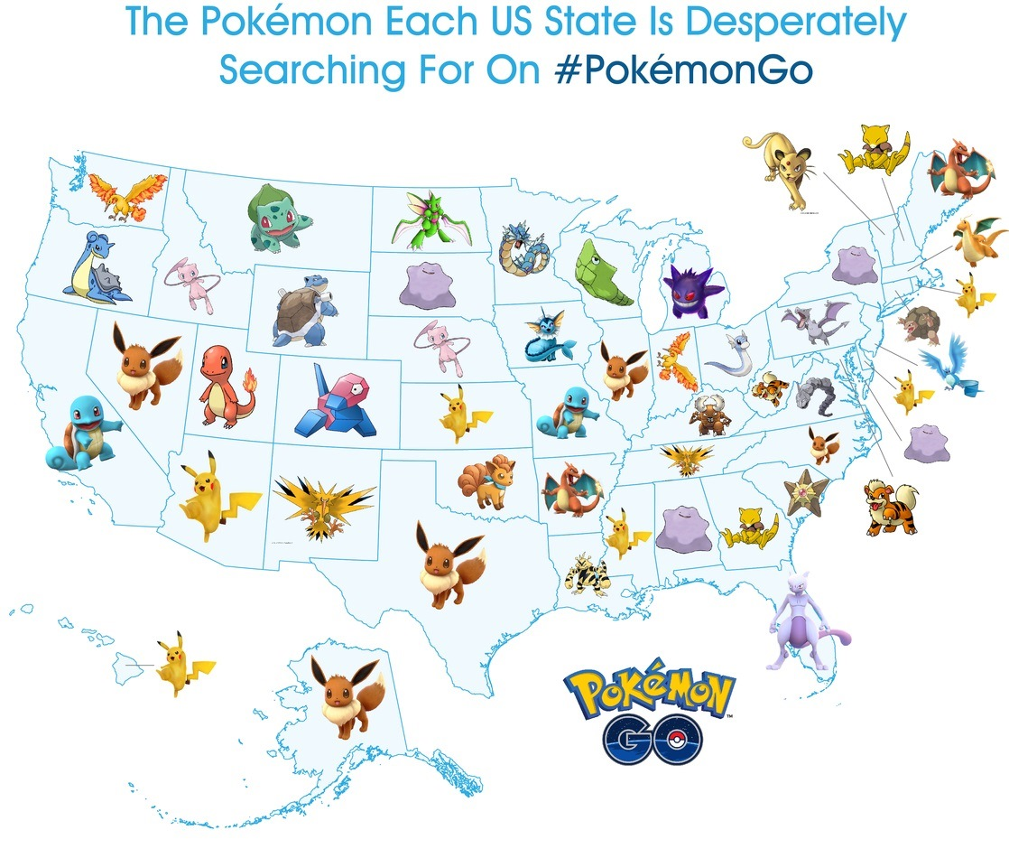 Pokemon Go A Look At The Most Sought After Pokemon In The United States Nintendo Everything