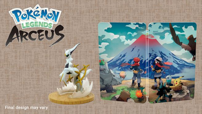 pokemon legends arceus pre-order bonus uk