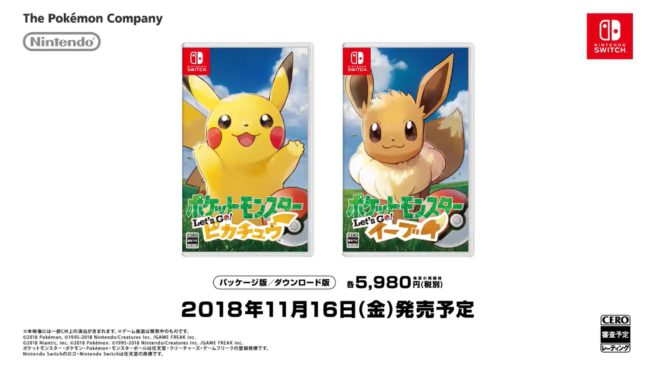 Pokemon Let´s Go Pikachu e Eeevee Box Arts