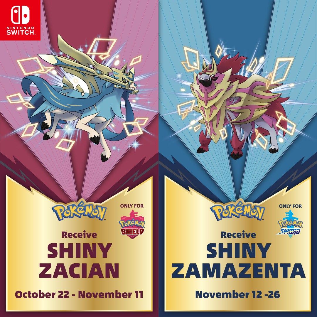 GameStop to host Shiny Zacian and Shiny Zamazenta distribution for Pokemon Sword and Shield