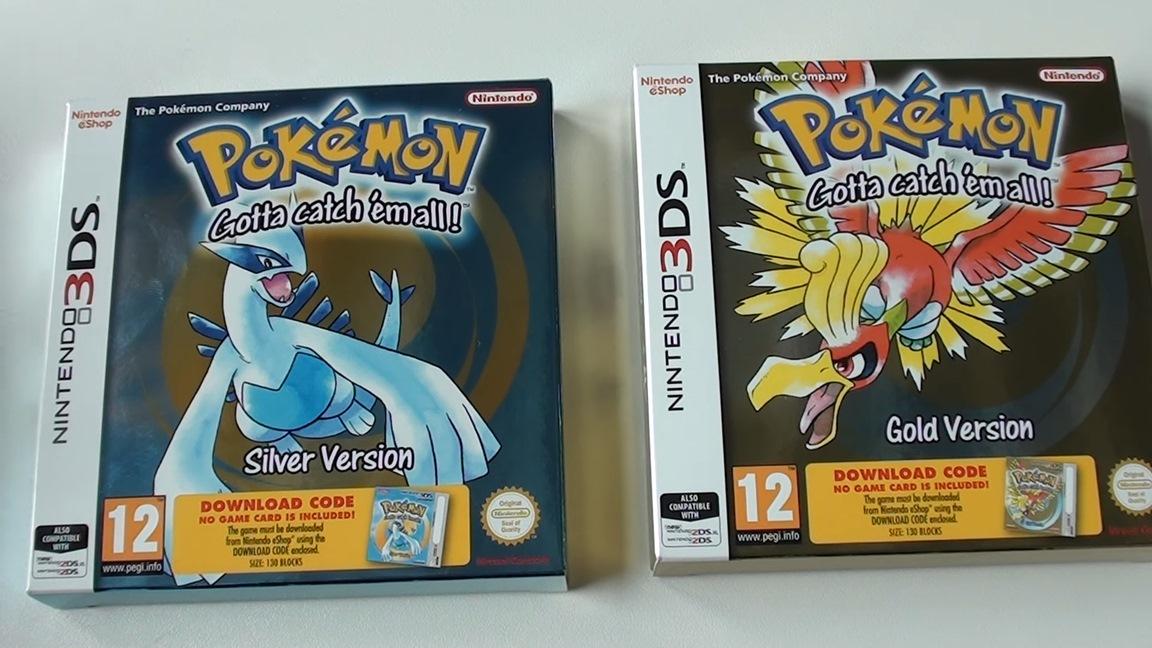 Nintendo 3ds Pokemon Games : European pokemon gold silver ds boxed versions unboxing