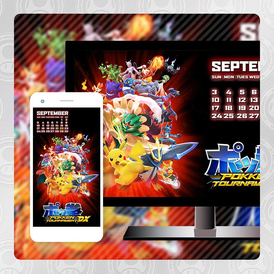 Dx Wallpaper: My Nintendo Adds Pokken Tournament DX September Calendar
