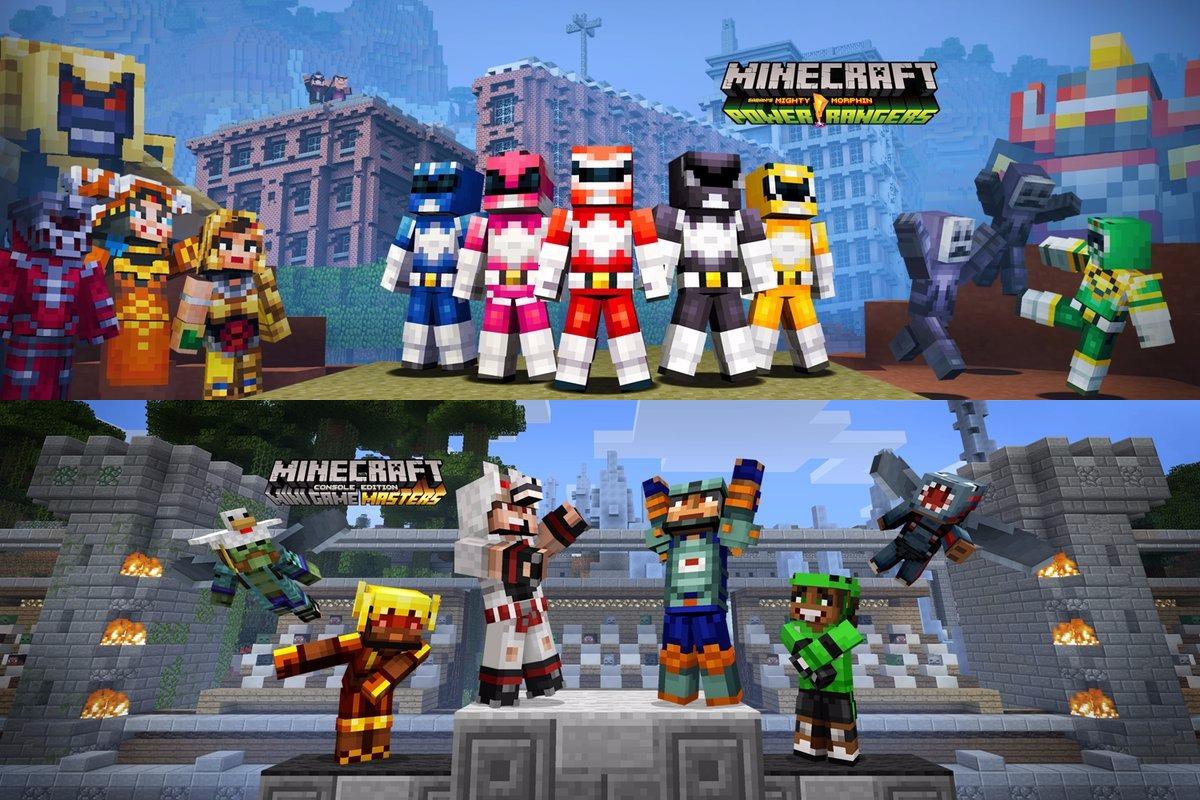 Minecraft Wii U Edition Adding New Power Rangers And Mini Game - Skins para minecraft wii u
