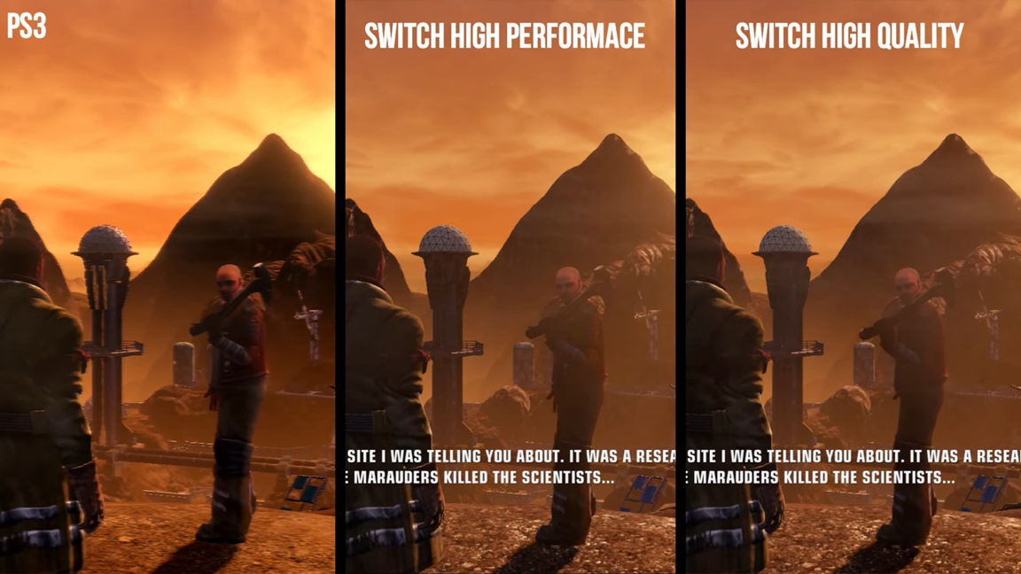 Video: Red Faction Guerrilla Re-Mars-tered Switch vs. PS3 graphics comparison