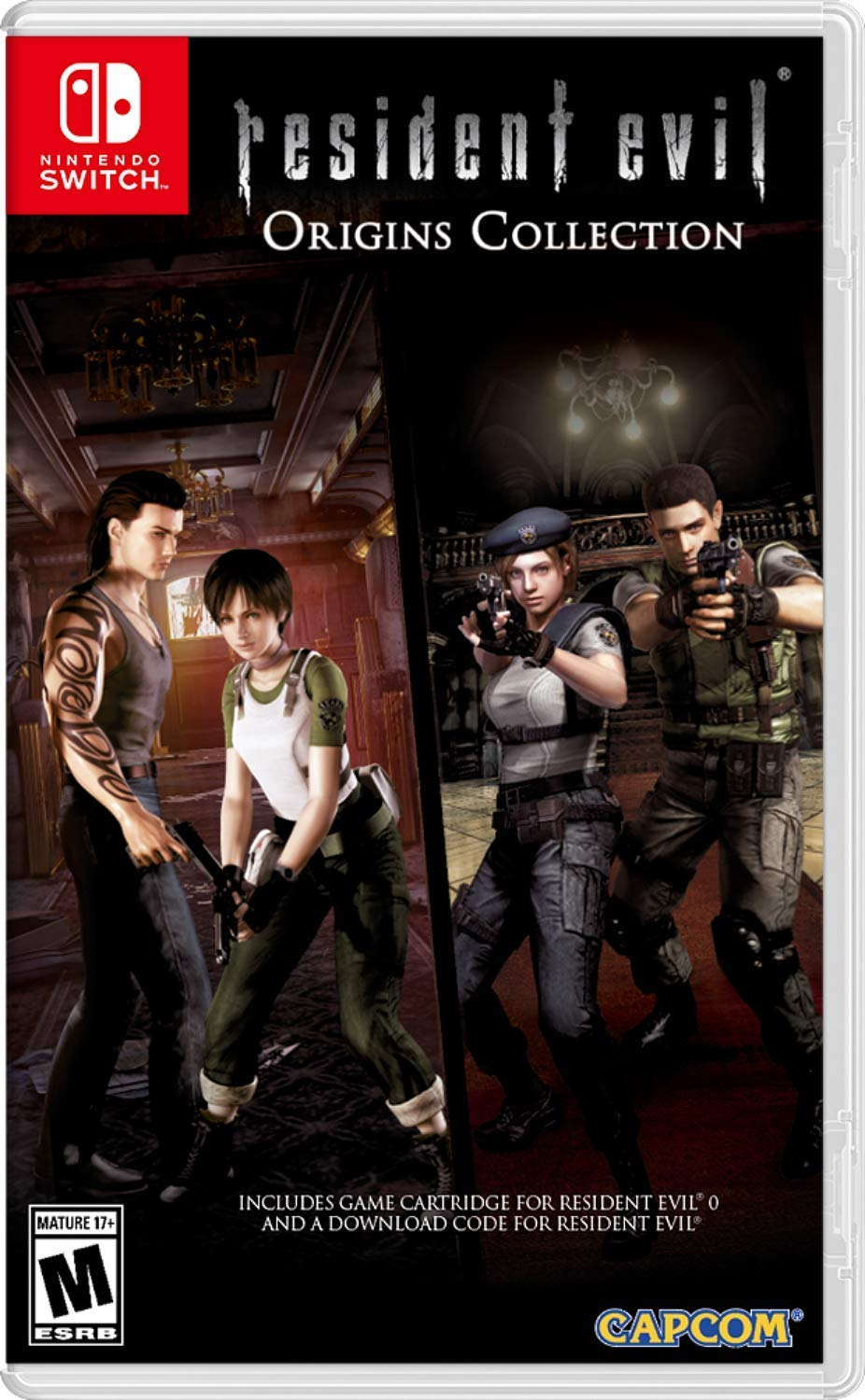 North American Resident Evil Origins Collection Boxart Nintendo