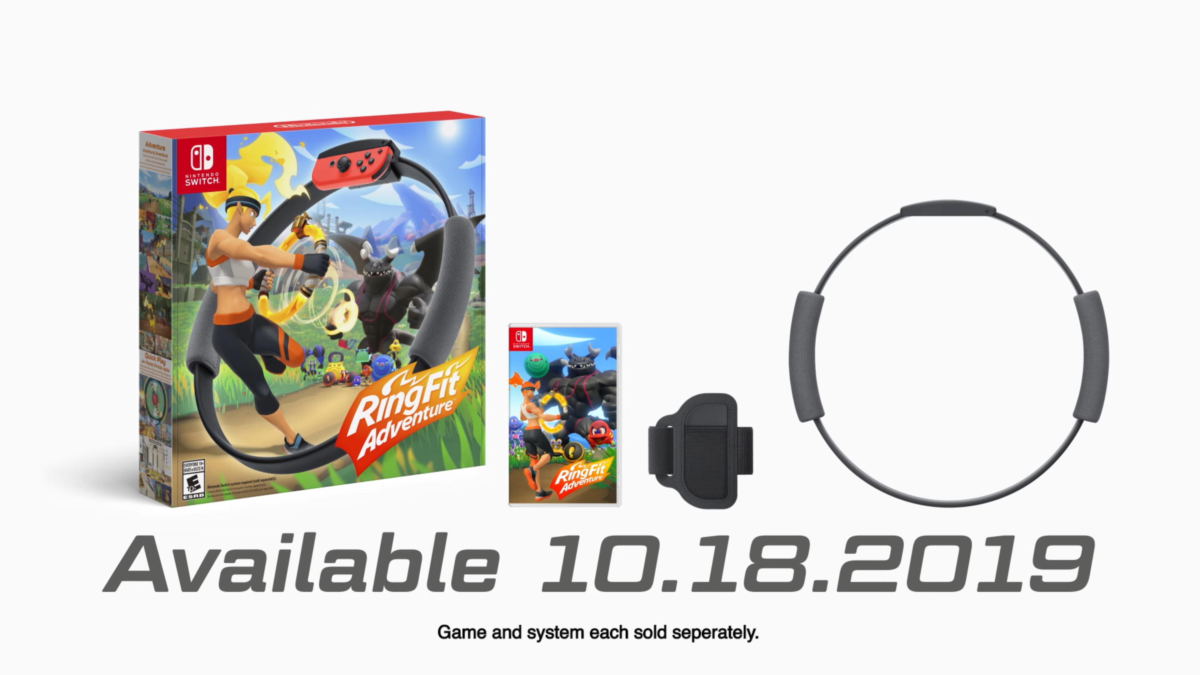 Nintendo reveals Ring Fit Adventure, launches October 18