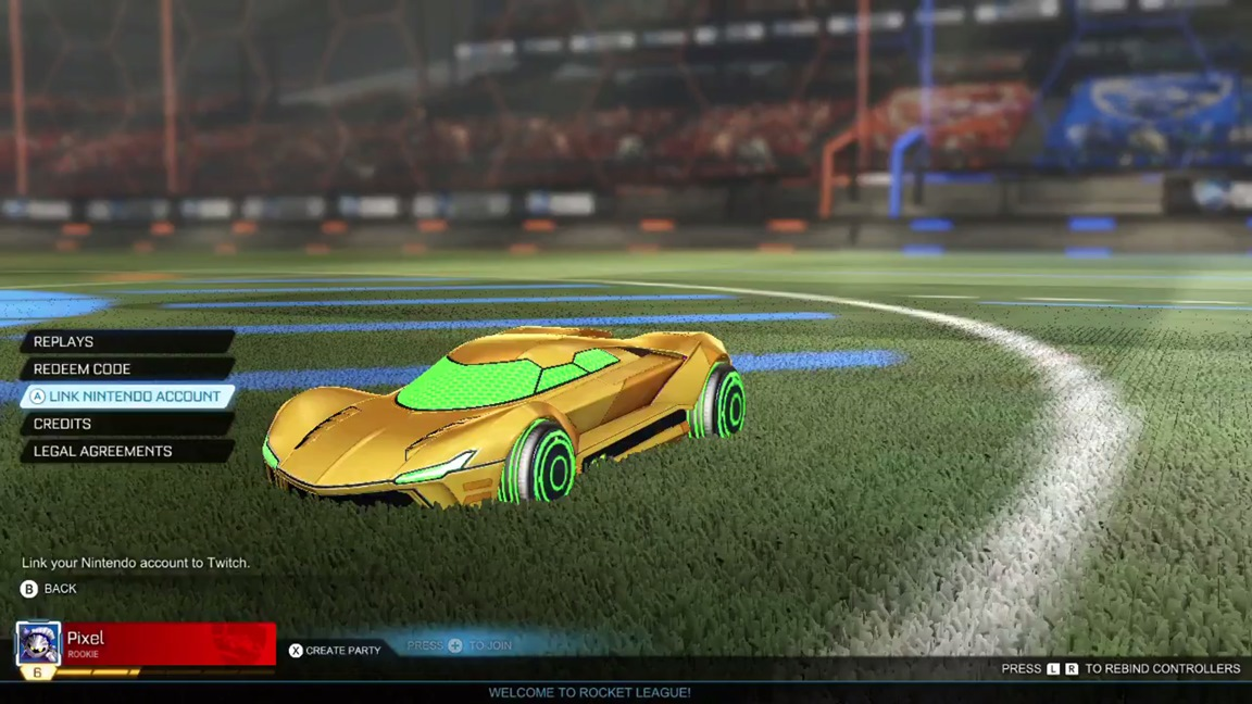Rocket League on Switch now has an option to link your