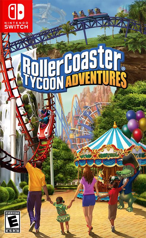 RollerCoaster Tycoon Adventures boxart, new screenshots and