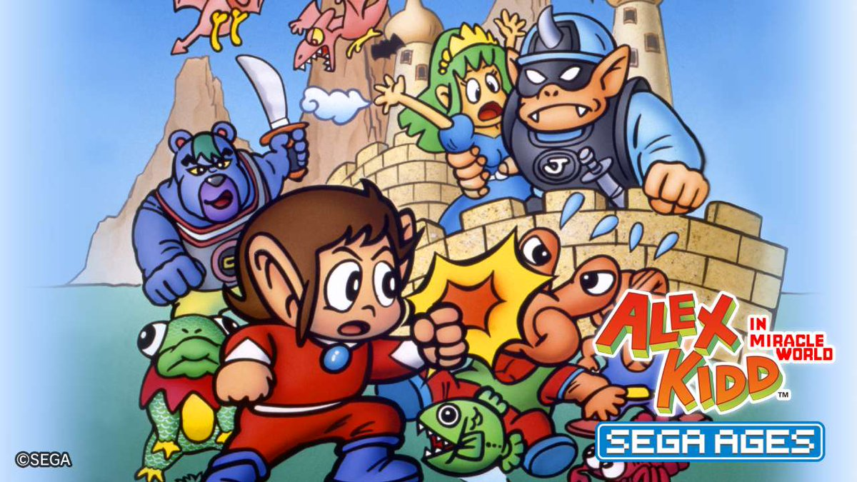 SEGA Ages Alex Kidd in Miracle World coming soon to Switch, features detailed