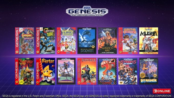 nintendo switch online all sega genesis games