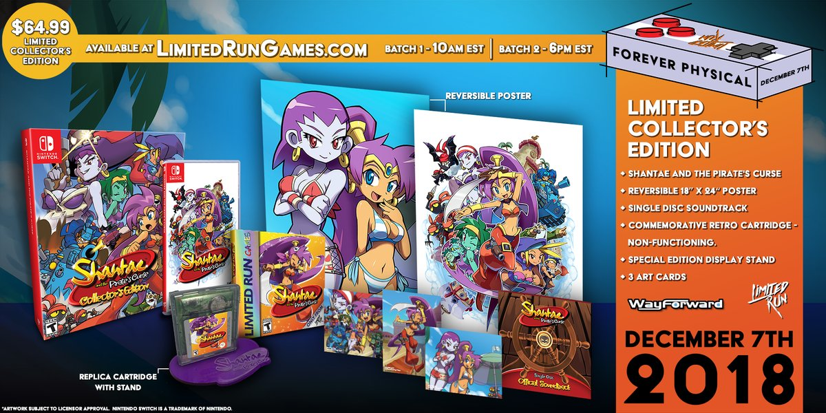 Shantae and the Pirate's Curse Switch physical pre-orders open