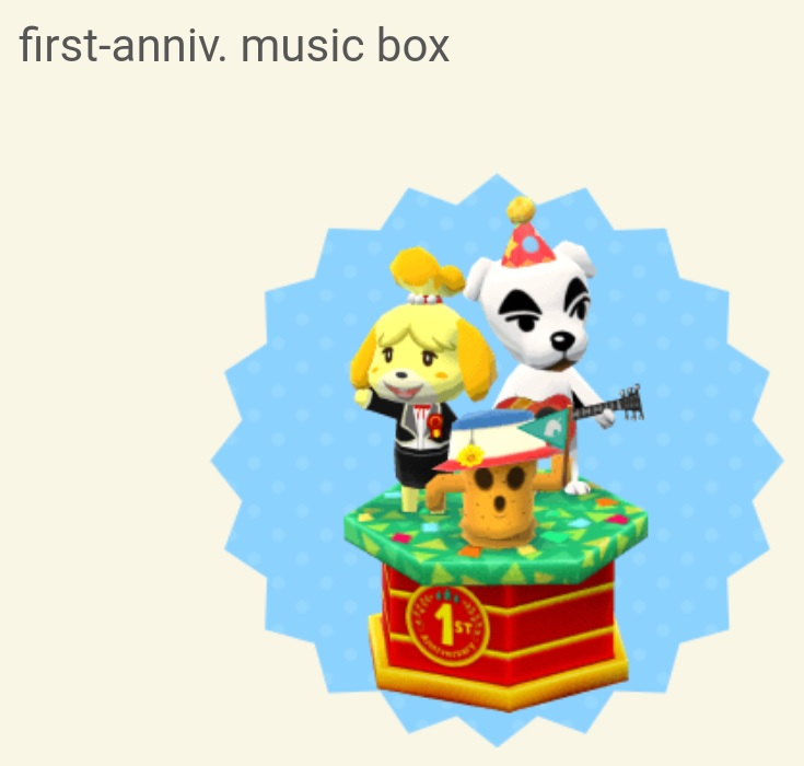Animal Crossing: Pocket Camp - multiple first anniversary items