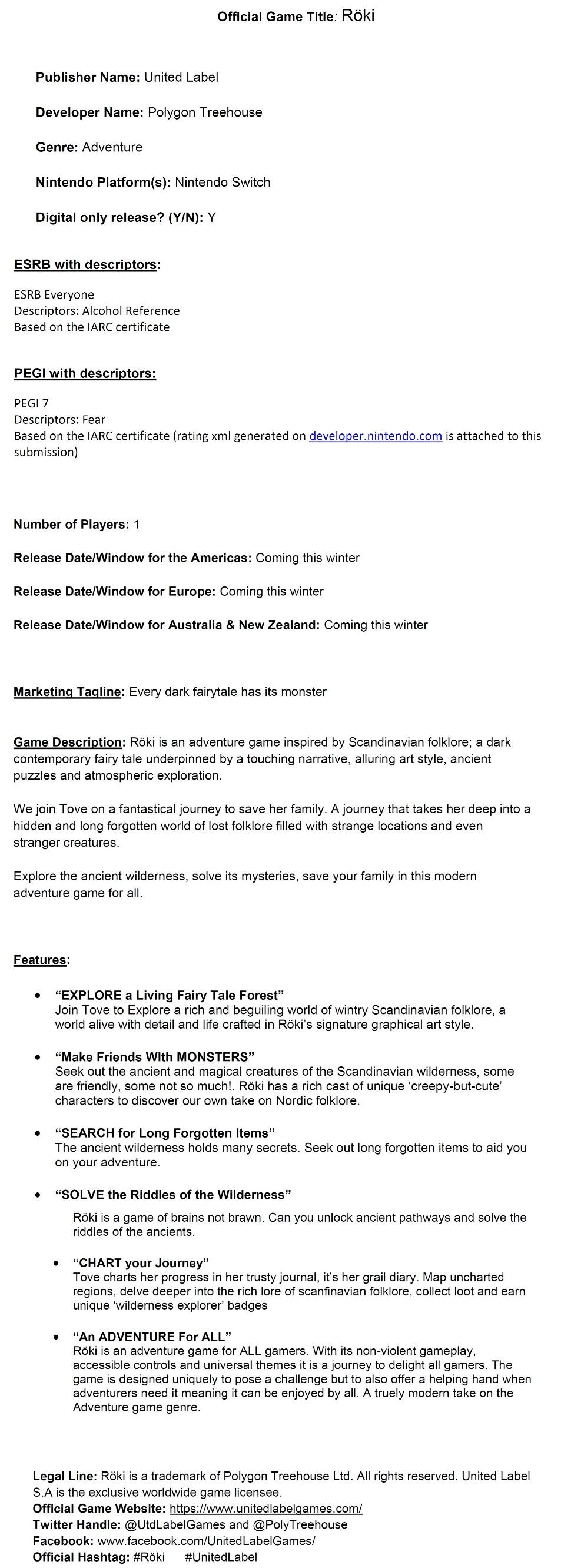 fact sheet Archives - Nintendo Everything