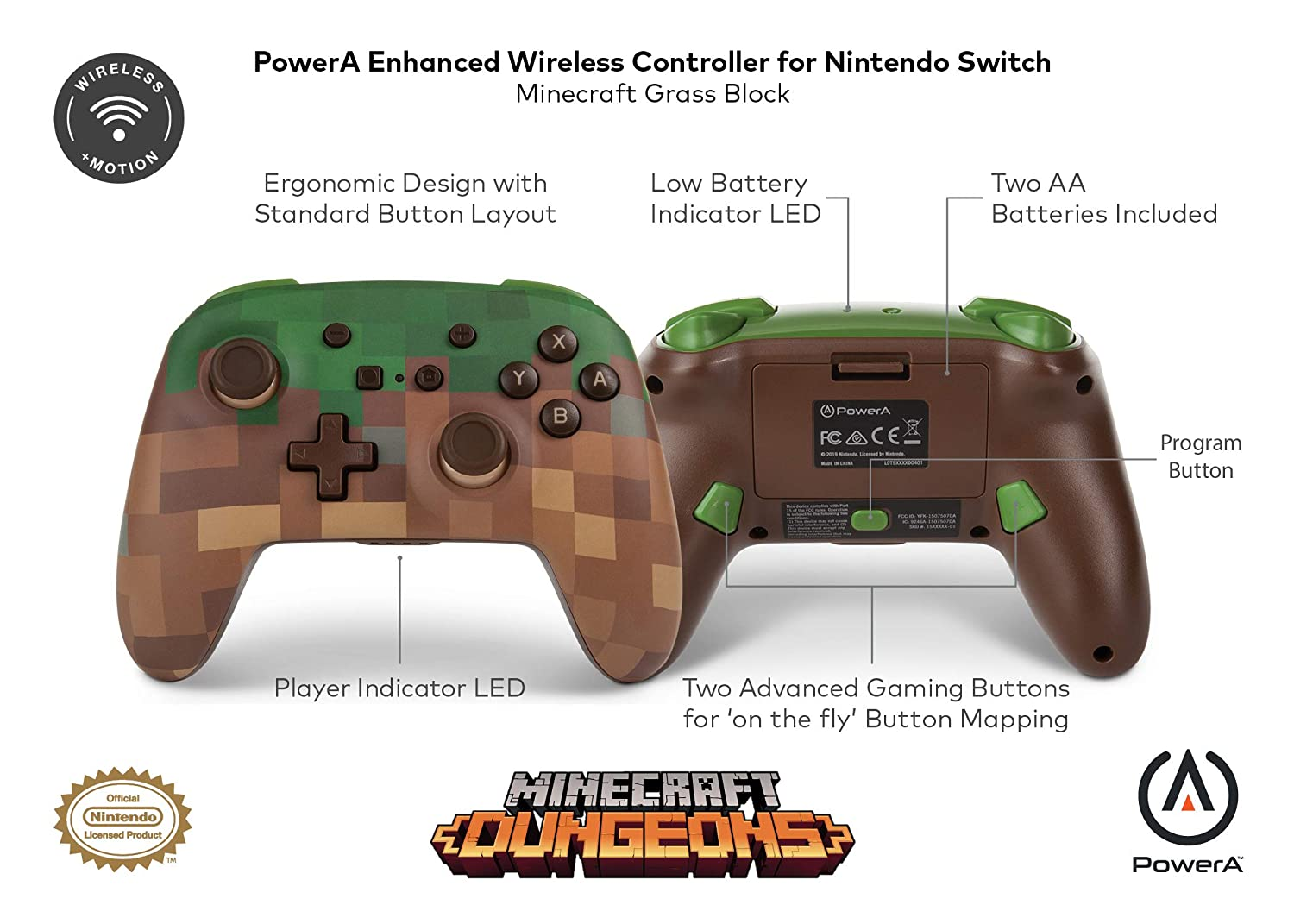 PowerA to release new Minecraft-themed Switch wireless controller
