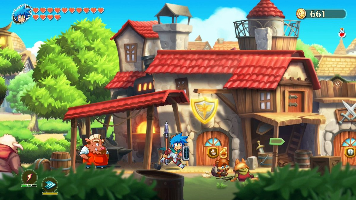 monster boy and the cursed kingdom screenshots nintendo everything