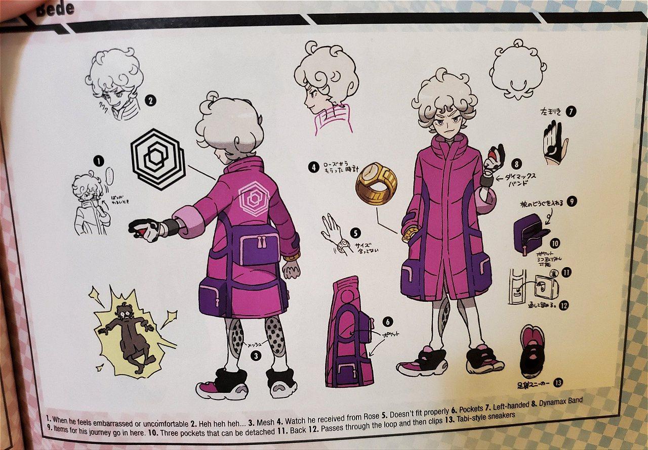 Lots of Pokemon Sword/Shield character concept art