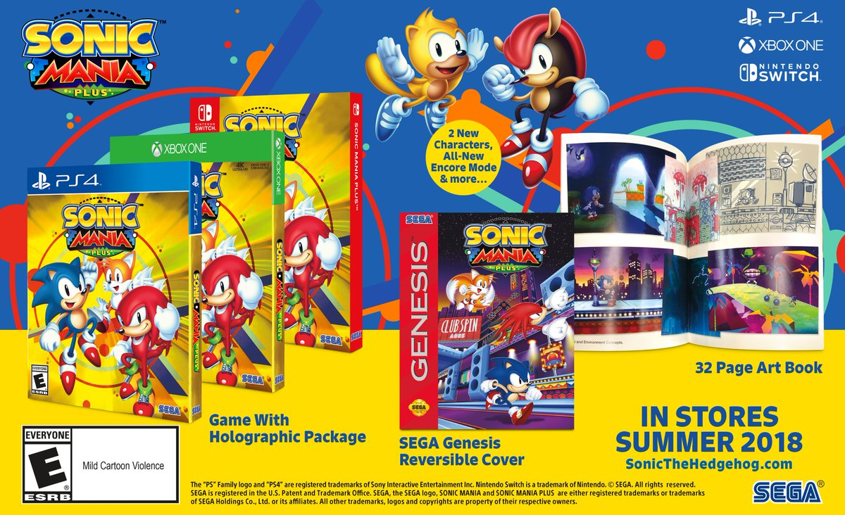 Sonic Mania Plus announced - Physical release, new