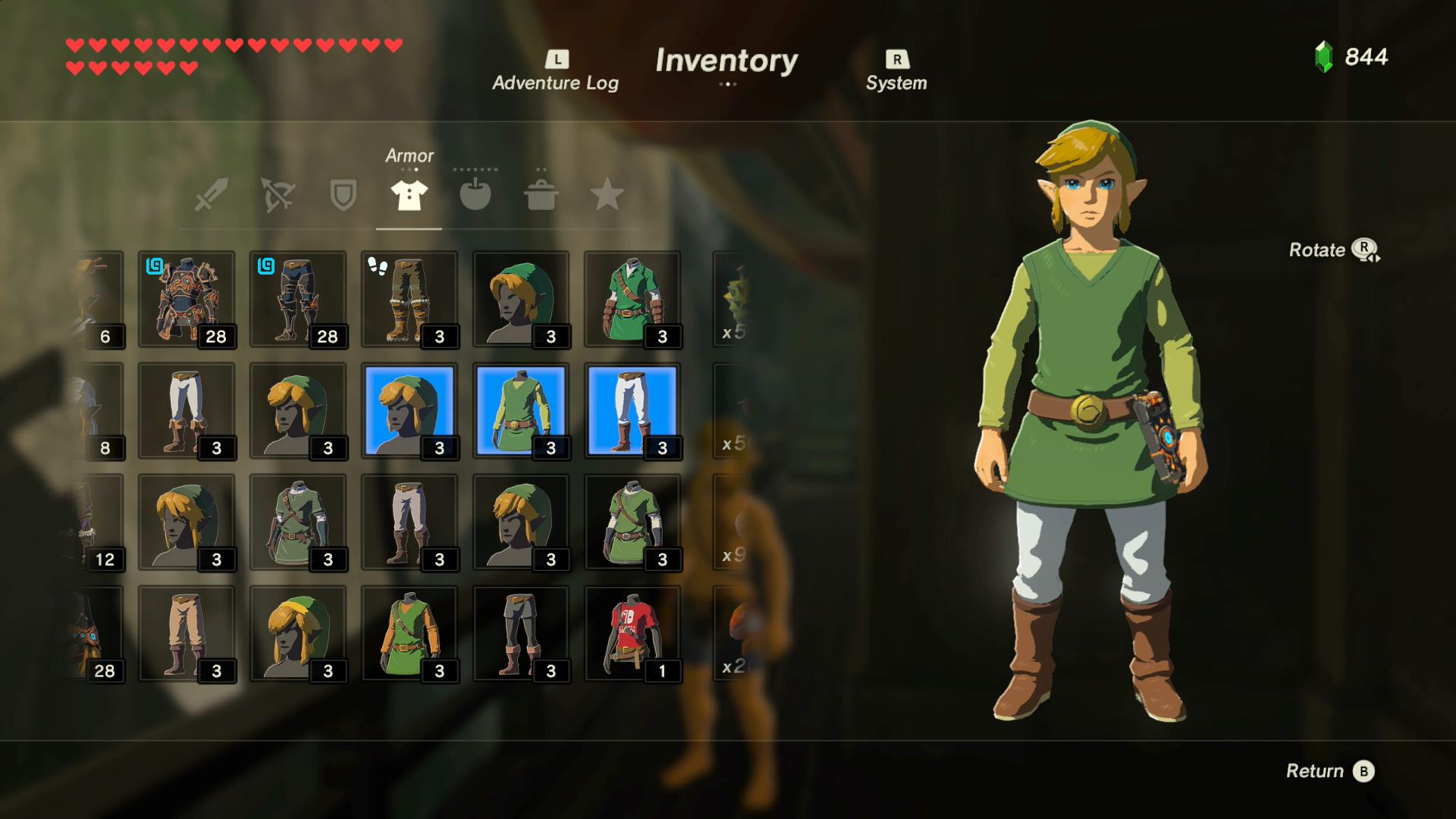 A Look At All Amiibo Outfits In The Legend Of Zelda Breath