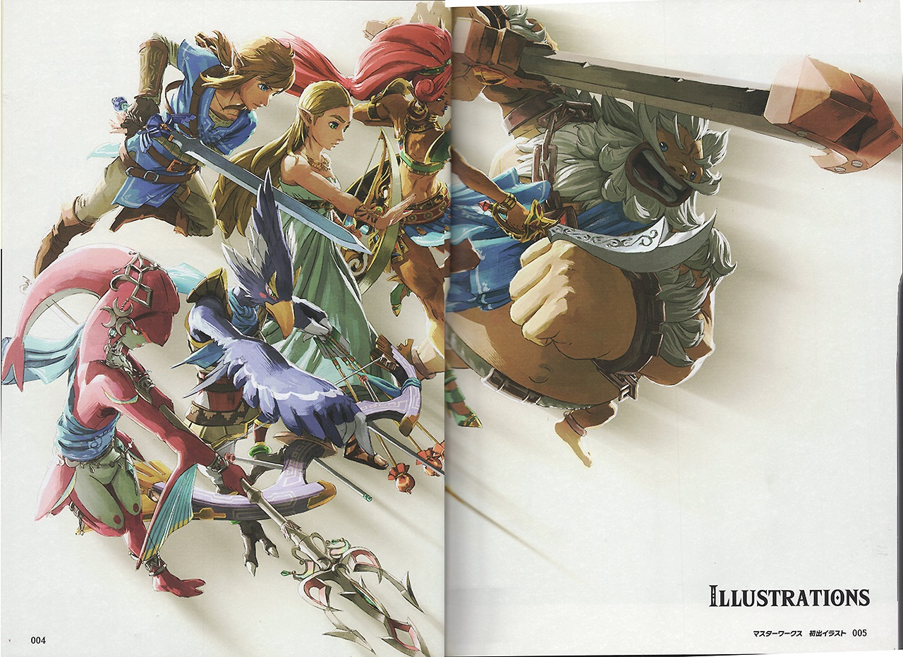 In Japan A Brand New Art Book For Zelda Breath Of The Wild Recently Debuted Its Packed Full Concept Across More Than 300 Pages