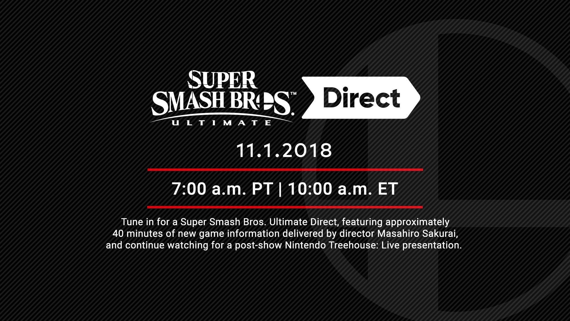 Super Smash Bros  Ultimate Direct recap announcement (11/1/18