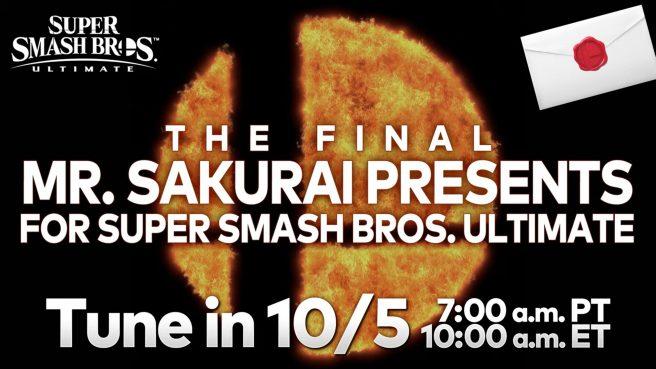 smash bros ultimate sakurai presents live stream