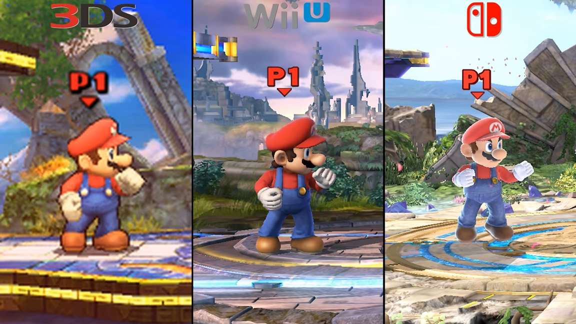 Super Smash Bros Ultimate Switch Vs Wii U 3ds Graphics