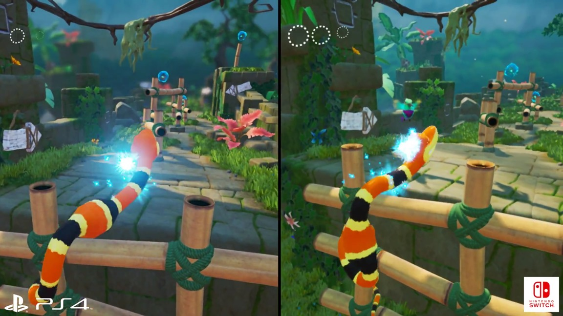 Another Snake Pass Switch vs. PS4 comparison + frame rate test ...