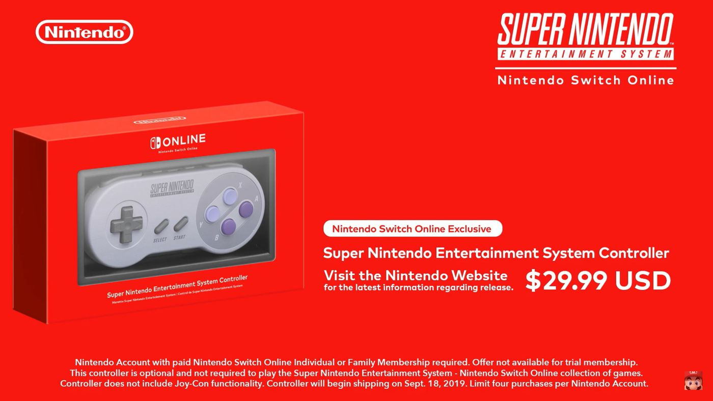 SNES controllers for Switch restocked at Nintendo store - Nintendo Everything