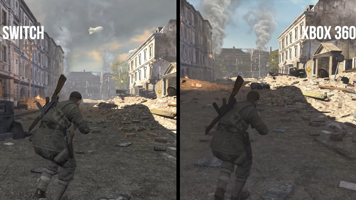 Video: Sniper Elite V2 Remastered Switch vs  Xbox 360 comparison