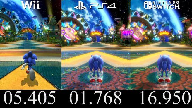 sonic colors comparison