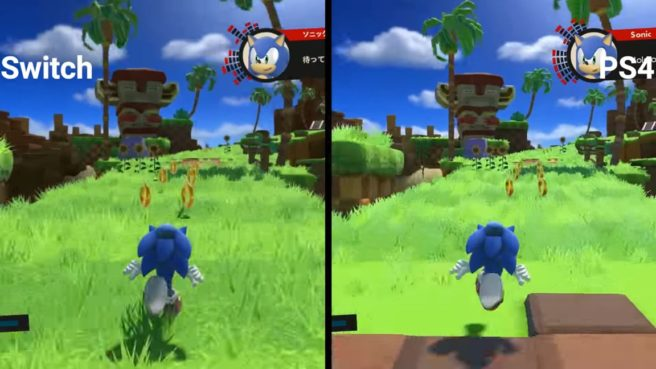 Sonic Forces - Switch vs  PS4 visual comparison video