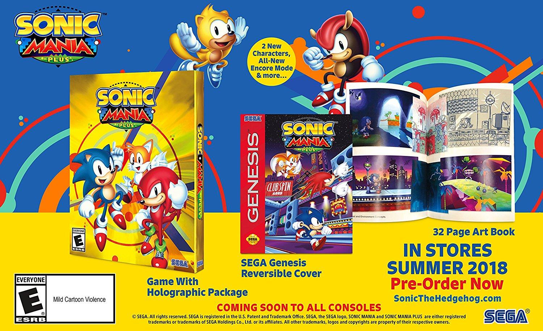 Sonic Mania Plus upgrade for original Sonic Mania players to