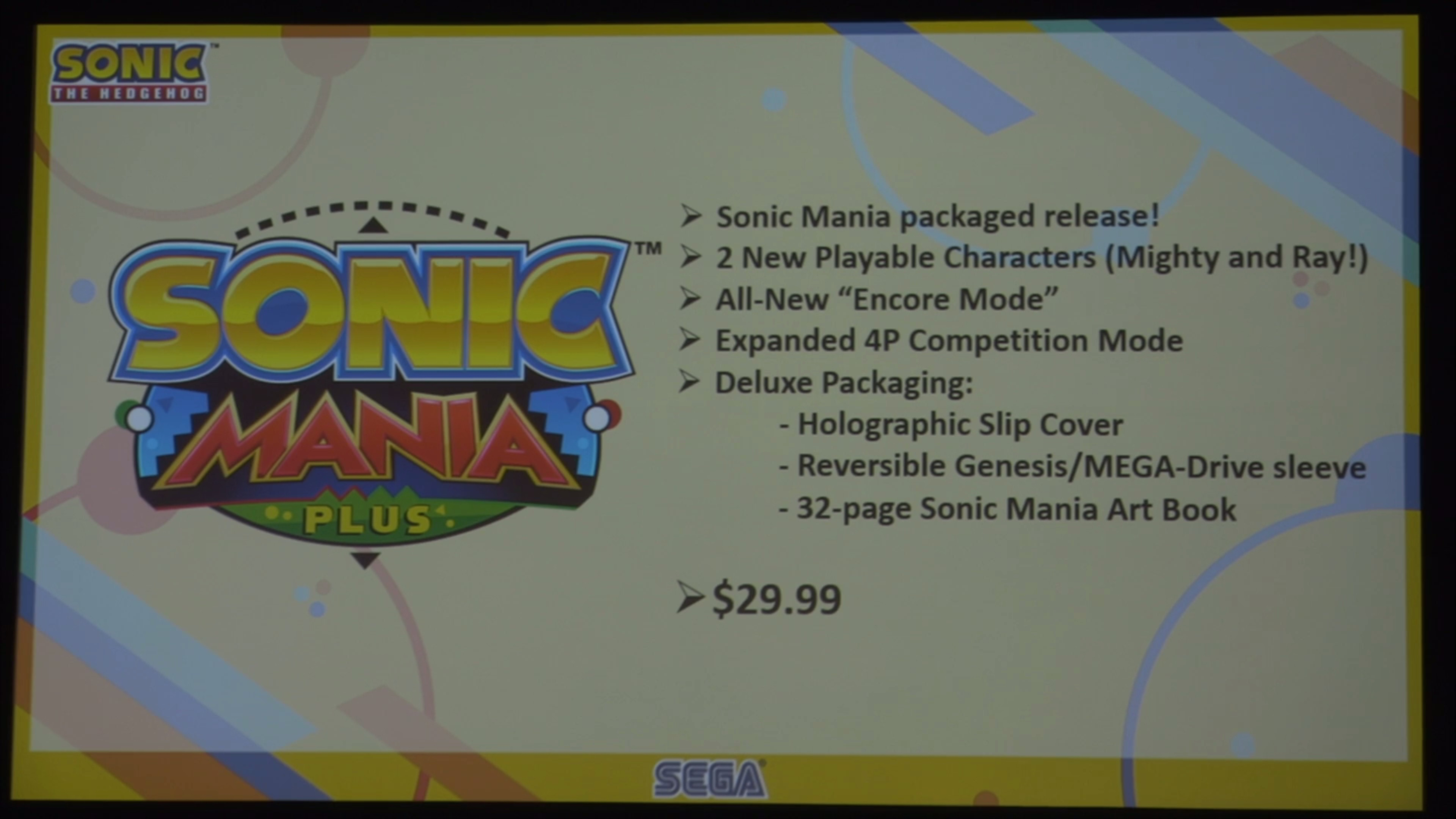 Sonic Mania coming to retail as Sonic Mania Plus, new