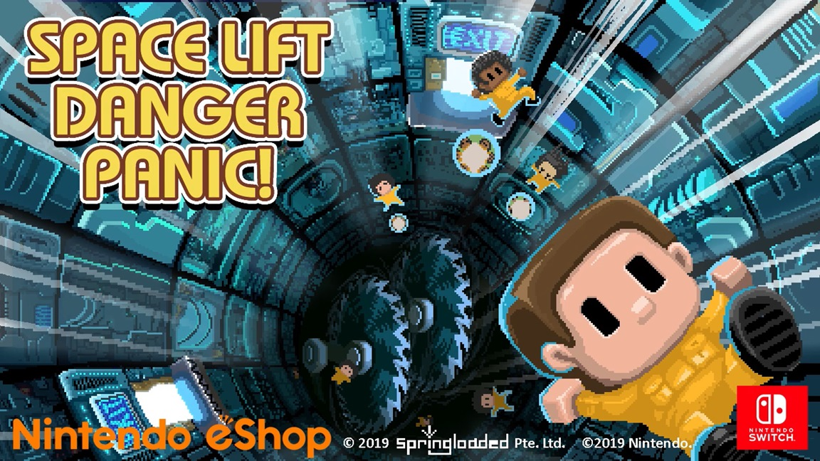 Springloaded bringing Space Lift Danger Panic! to Switch