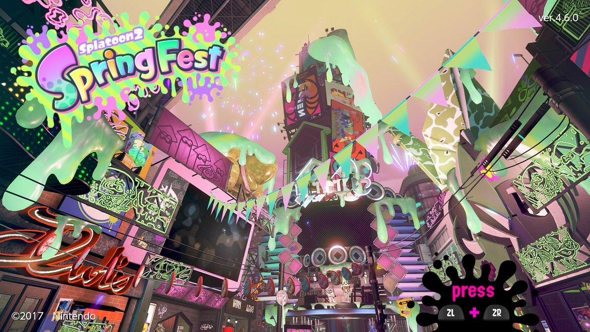 Splatoon 2 - Spring Fest and Team Hare vs. Team Tortoise Splatfest footage
