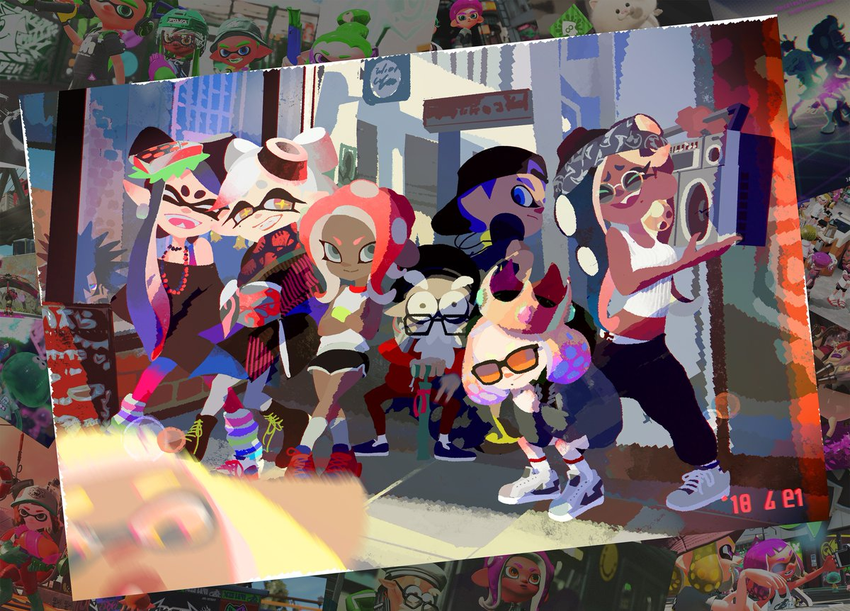 Official Splatoon 2 anniversary art