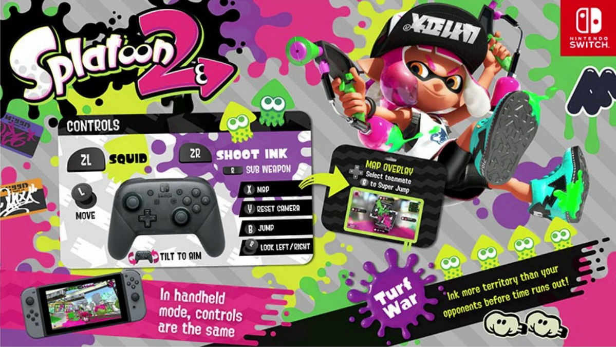 splatoon 2 official controls overview nintendo everything