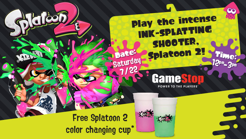 Lineup of locations for the splatoon 2 event at gamestop this we recently learned that gamestop locations will be hosting a special event for splatoon 2 on saturday nintendos website has since updated with the sciox Choice Image
