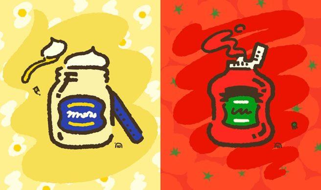 Splatoon 2 Splatfest - mayo vs. ketchup