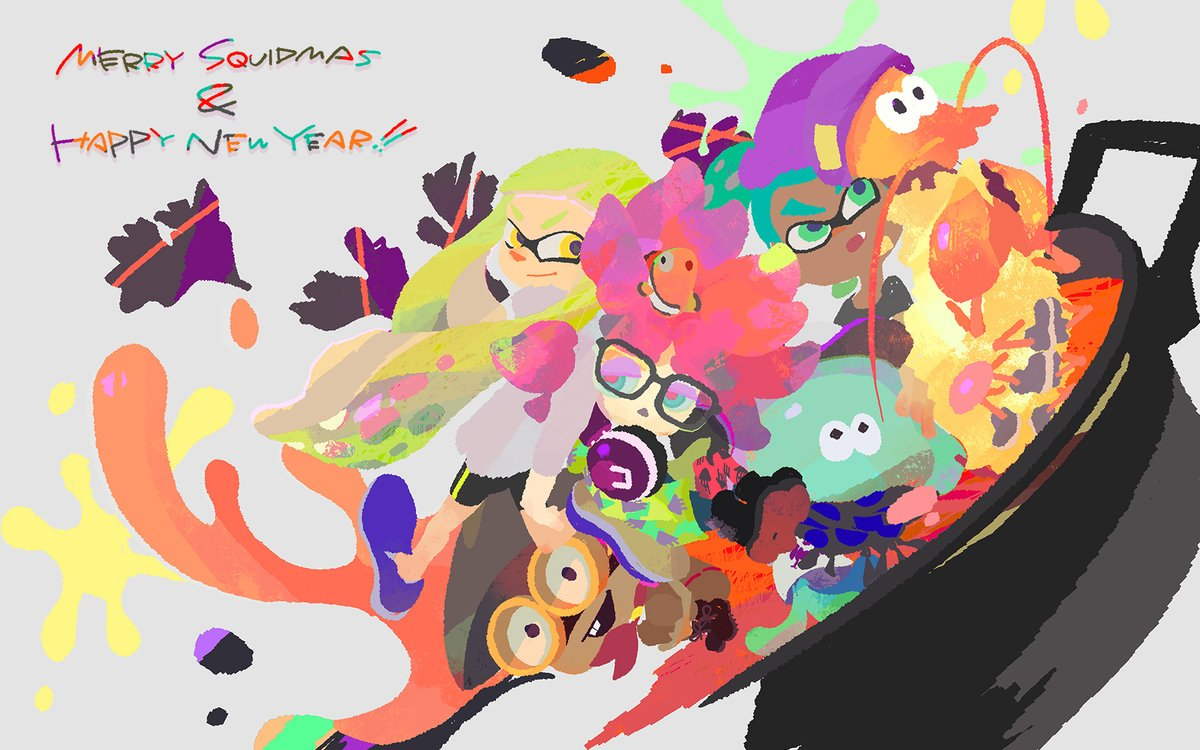 Nintendo shares special Splatoon illustration for Christmas and New ...